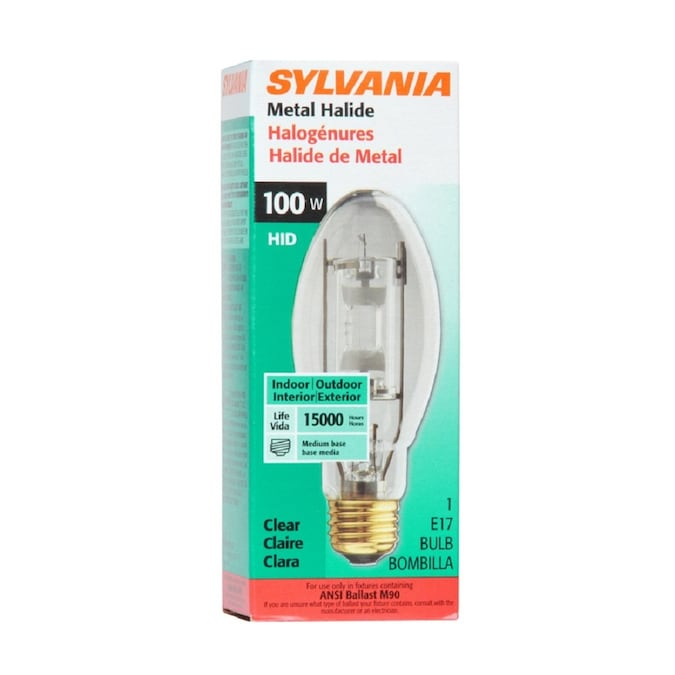 Sylvania 100 Watt E17 For Indoor Or Enclosed Outdoor Use Only Metal Halide Hid Light Bulb In The Hid Light Bulbs Department At Lowes Com