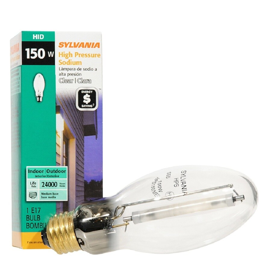 SYLVANIA 150-Watt 2,100K E17 Medium Base (E-26) Outdoor High-Pressure Sodium HID Light Bulb