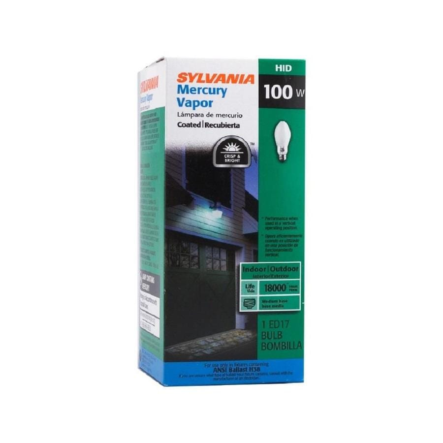 SYLVANIA 100-Watt 4,000K ED17 Medium Base (E-26) Mercury Vapor HID Light Bulb