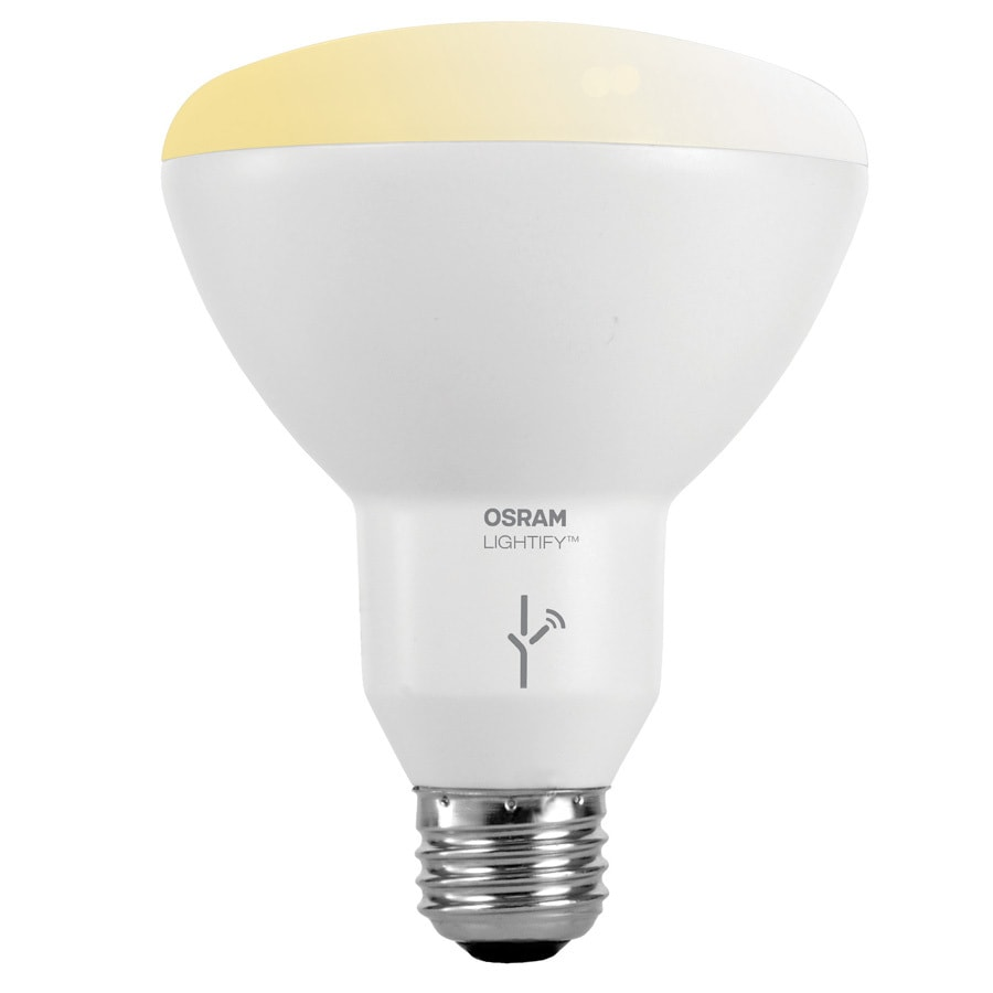 Shop sylvania lightify 65w equivalent dimmable soft white br30 led flood light bulb at Sylvania bulb