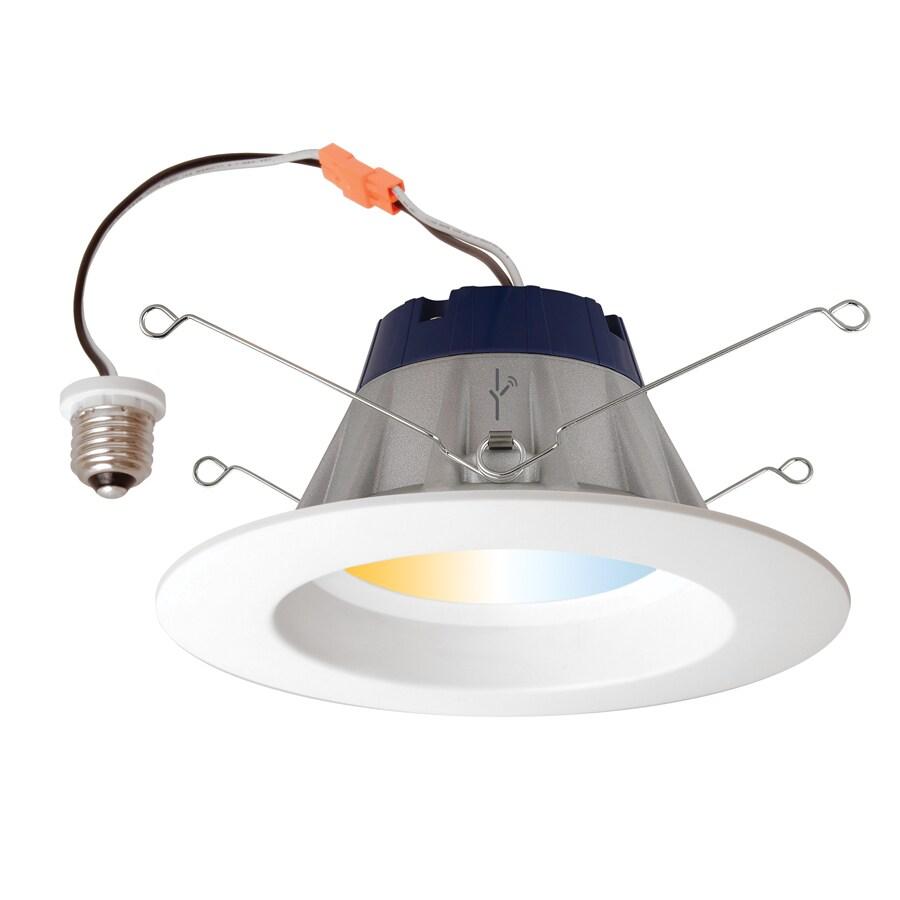 SYLVANIA LIGHTIFY 65-Watt Equivalent White Trim LED Recessed Retrofit Downlight (Fits Housing Diameter: 5-in or 6-in)