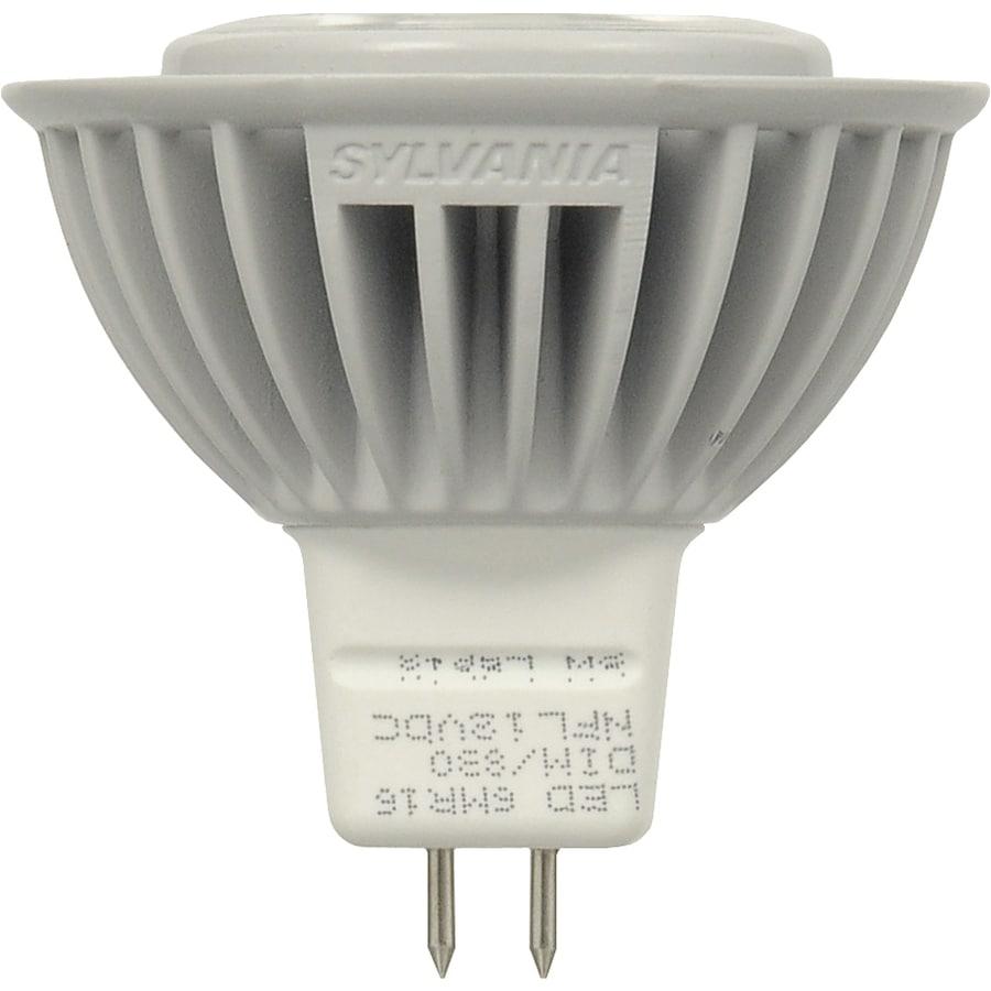 SYLVANIA 6-Watt (20W Equivalent) MR16 Medium Base (E-26) Soft White Dimmable Indoor LED Flood Light Bulb ENERGY STAR