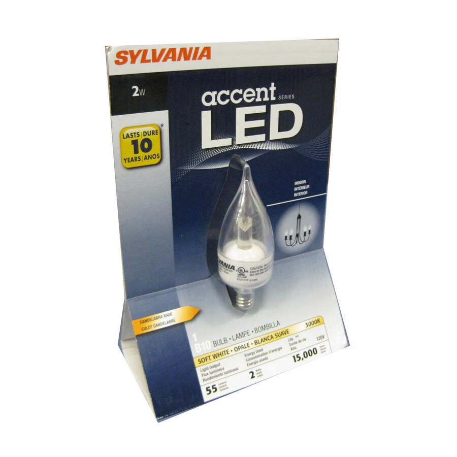 SYLVANIA 2-Watt (15W Equivalent) Warm White Decorative LED Light Bulb