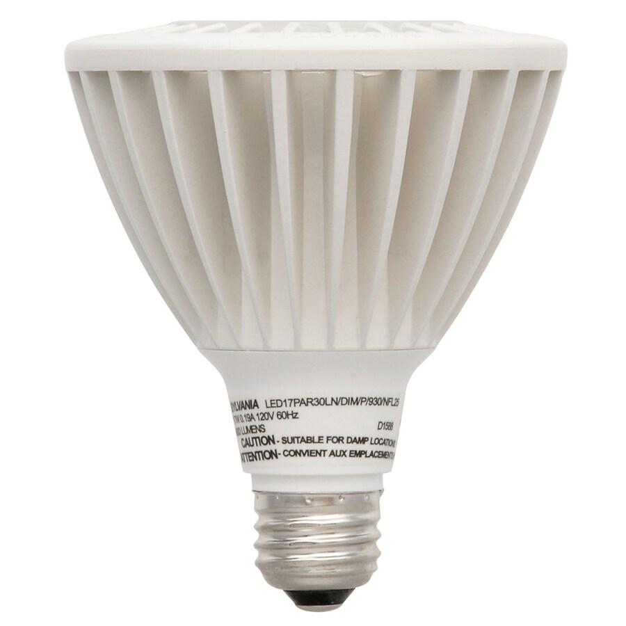 SYLVANIA 17-Watt (75W Equivalent) PAR30 Longneck Medium Base (E-26) Warm White Dimmable Outdoor LED Flood Light Bulb
