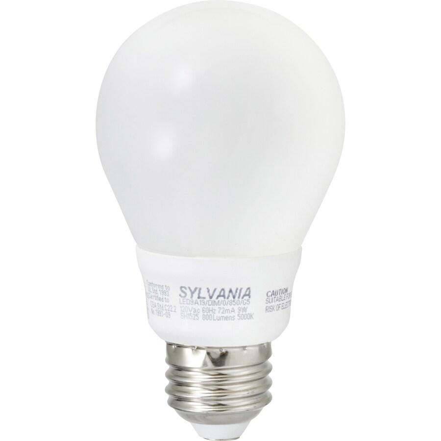 SYLVANIA Ultra 9.5-Watt (75W Equivalent) 5,000K A19 Dimmable Daylight Indoor LED Bulb ENERGY STAR