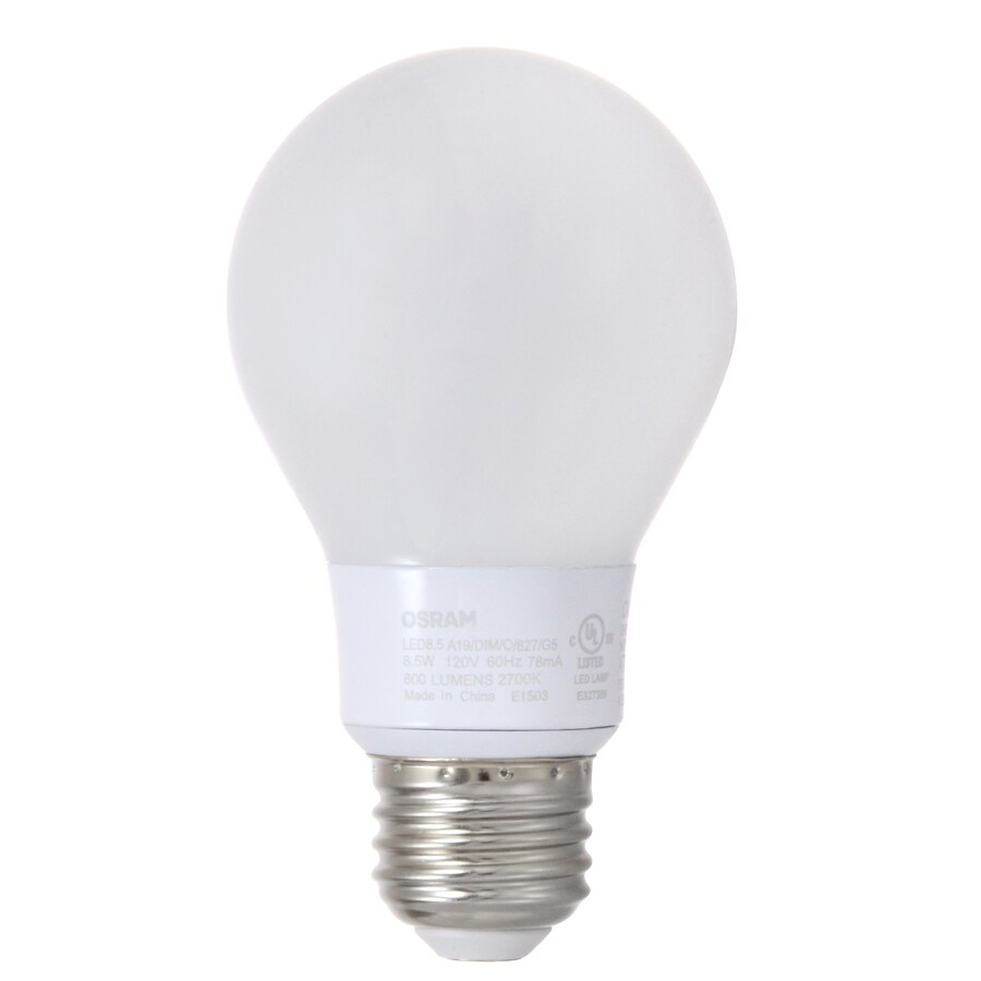 SYLVANIA Ultra 8.5-Watt (60W Equivalent) 3500K A19 Medium Base (E-26) Dimmable Bright White Indoor LED Bulb ENERGY STAR