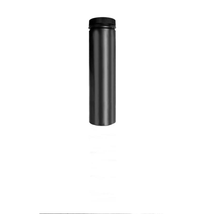 Selkirk 36-in L x 8-in Dia Black Insulated Double-Wall Steel Stove Pipe