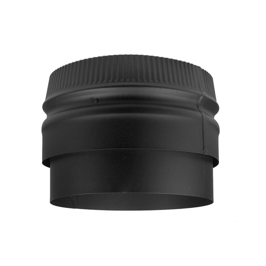 Selkirk 8.5-in x 8.5-in Black Stainless Steel Stove Pipe Tee