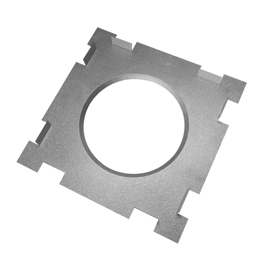 SuperVent 14-in Stainless Steel Rectangular Steel Chimney Ceiling Plate
