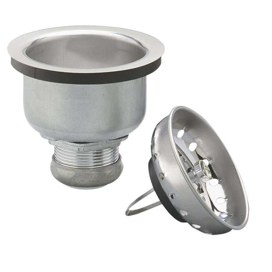 Keeney Mfg. Co. 4-1/2-in dia Chrome Spring Style Sink Strainer