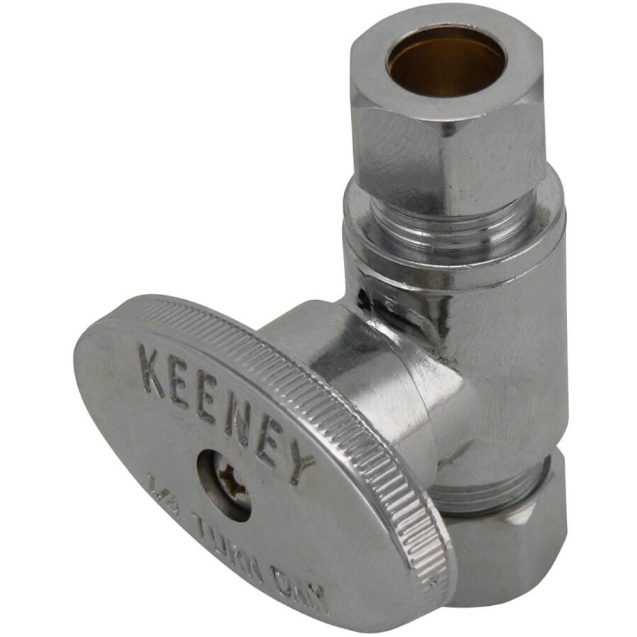 Keeney Mfg. Co. Chrome Quarter Turn Straight Valve