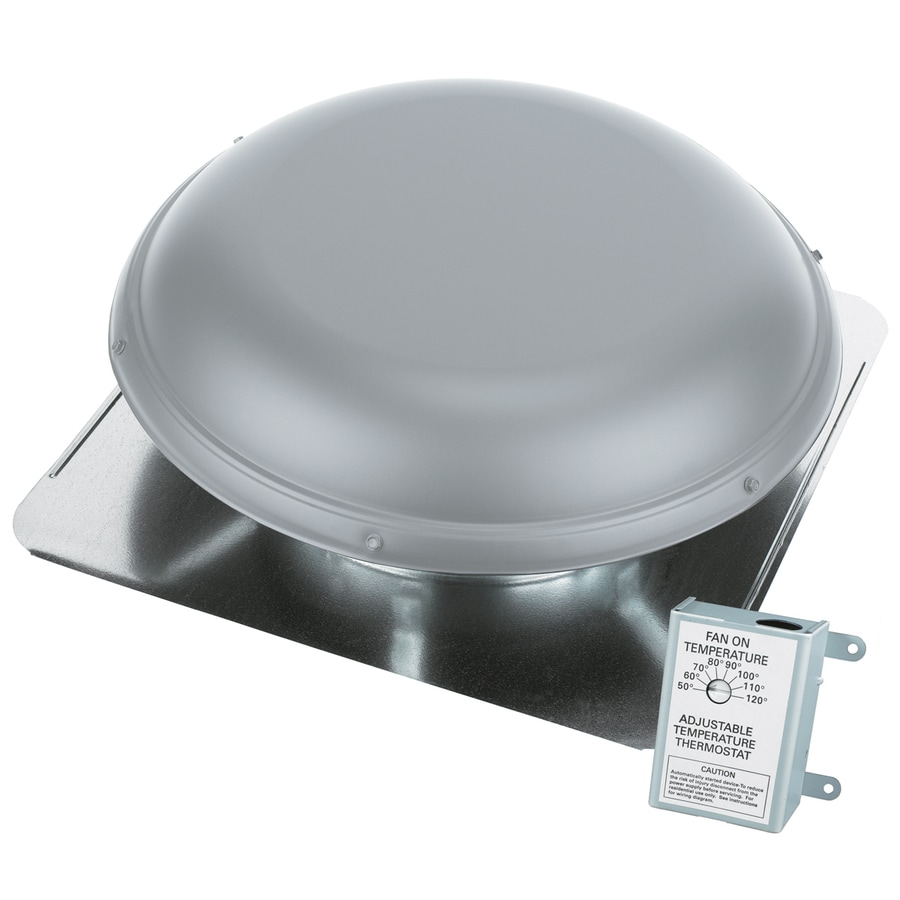 AIR VENT INC. 1,320-CFM Gray Galvanized Steel Electric Power Roof Vent