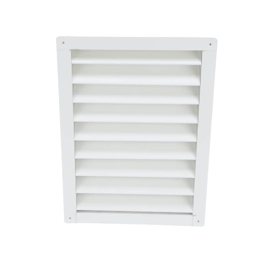 Air Vent 12-in x 18-in White Rectangle Aluminum Gable Vent