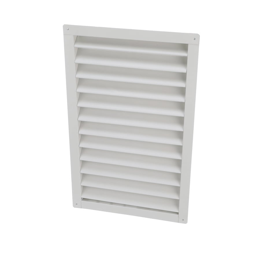 Air Vent 15.75-in x 26.5-in White Rectangle Aluminum Gable Vent