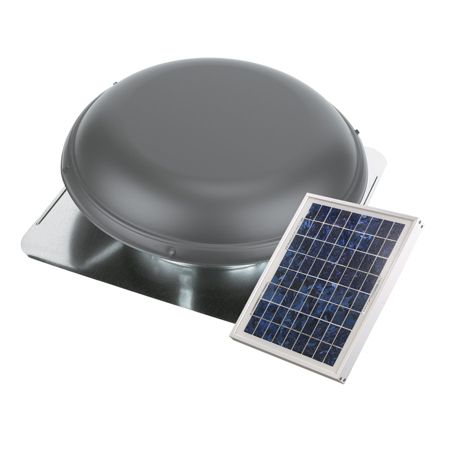Blue Hawk 800-CFM Weatherwood Galvanized Steel Solar Power Roof Vent