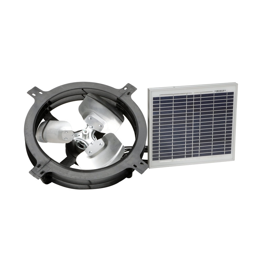 Air Vent 17.875-in Dia Solar Gable Vent Fan