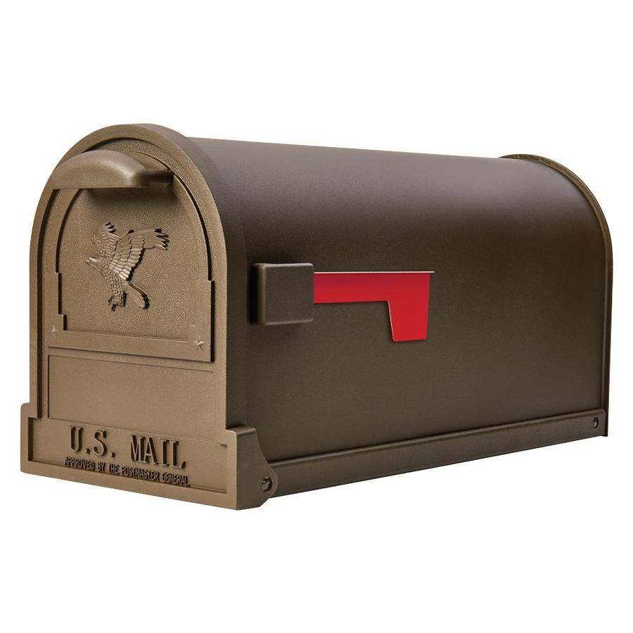 Gibraltar Mailboxes Arlington Large Metal Textured Bronze Post Mount Mailbox In The Mailboxes Department At Lowes Com