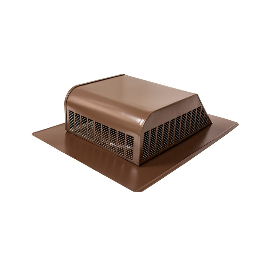Air Vent Brown Galvanized Steel Slant-Back Roof Louver