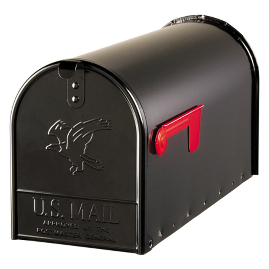 PostMaster Classic 8.125-in x 10.5-in Metal Black Post Mount Mailbox