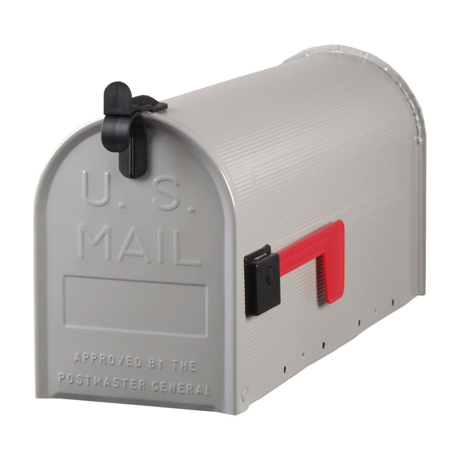 Postmaster Mailbox Post: Shop PostMaster 7-in X 9-in Metal Gray Post Mount Mailbox