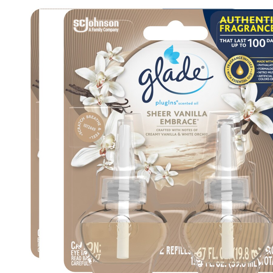 Glade 2-Pack Pure Vanilla Joy Plug-in Electric Air Freshener Refill