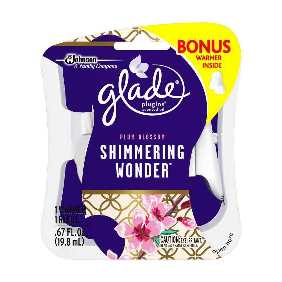 Glade 2-Pack Plum Blossom Plug-in Electric Air Freshener Kit