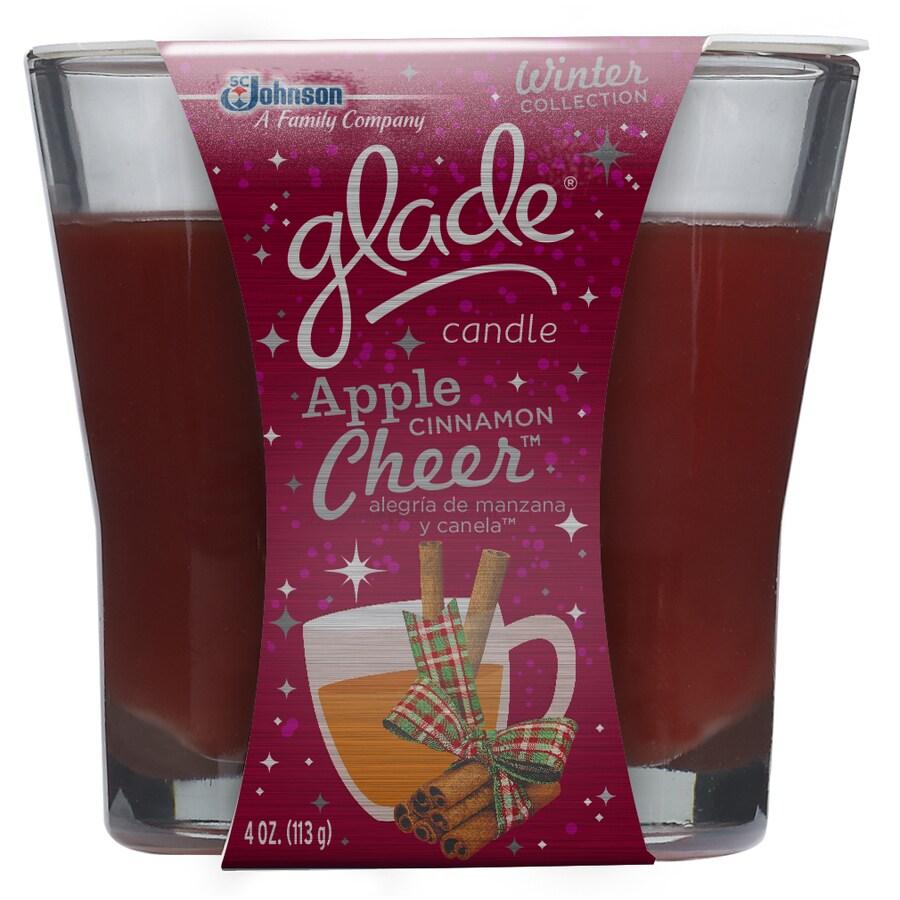 Glade 4-oz Apple Cinnamon Cheer Maroon Jar Candle