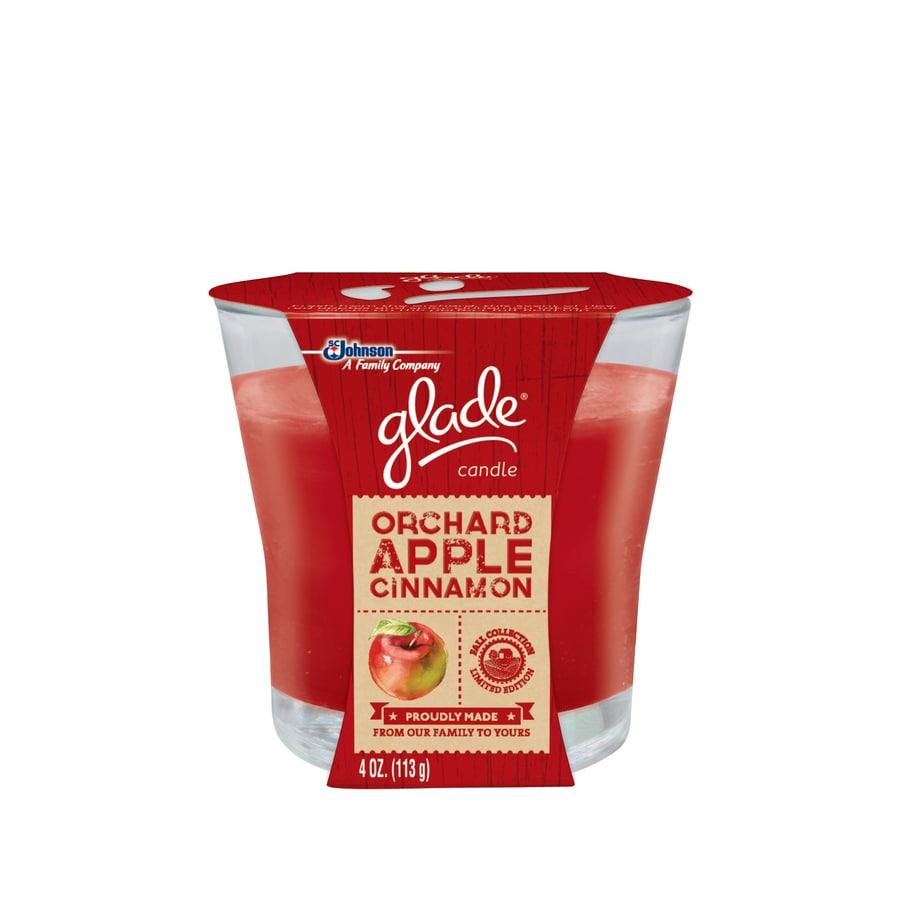 Glade 4-oz Orchard Apple Cinnamon Jar Candle