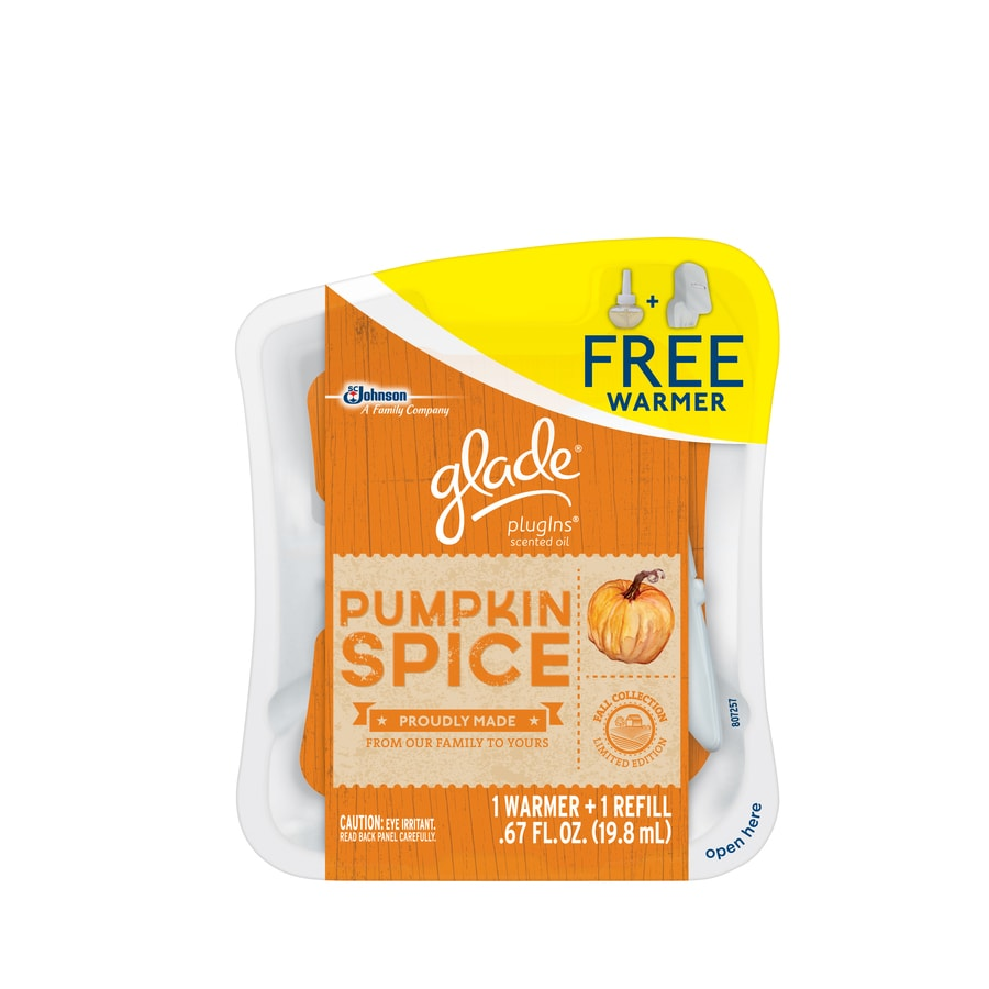 Glade .67-oz Pumpkin Spice Electric Air Freshener Refill
