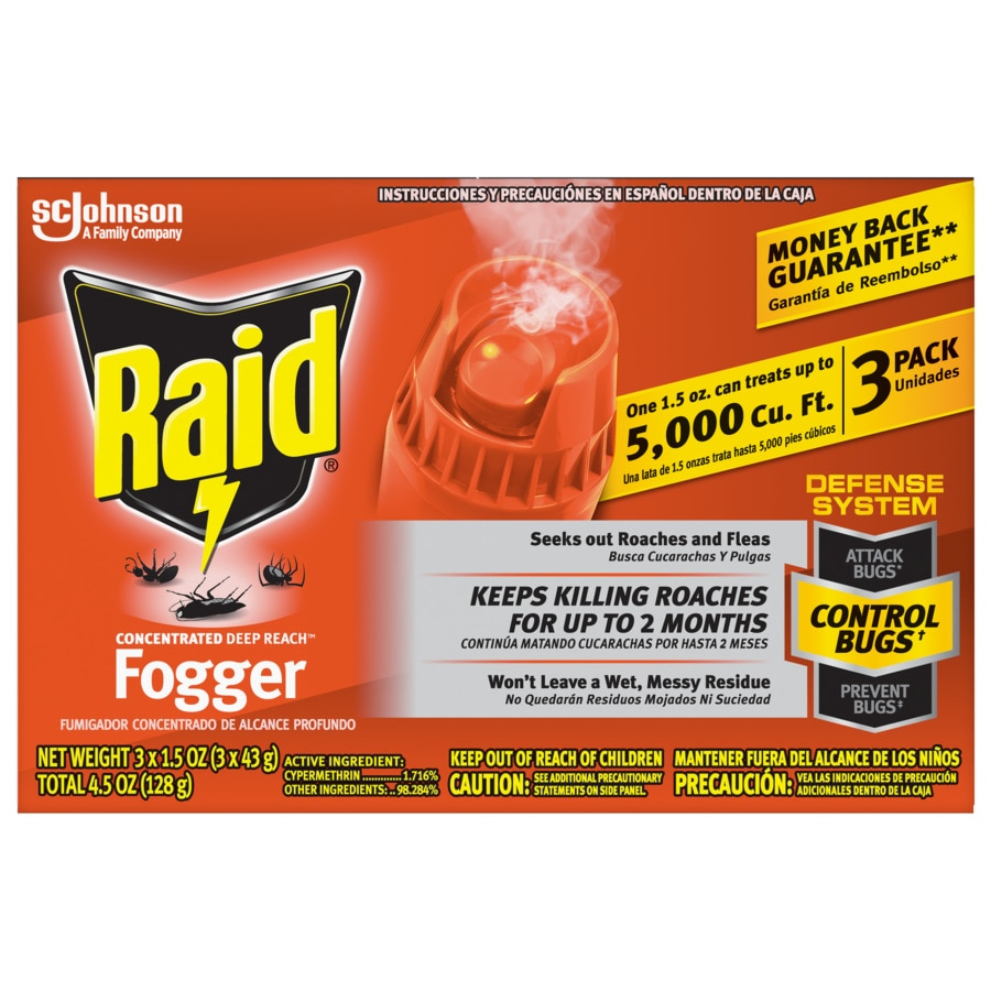 Raid 4.5-oz Fogger Triple Pack Concentrate