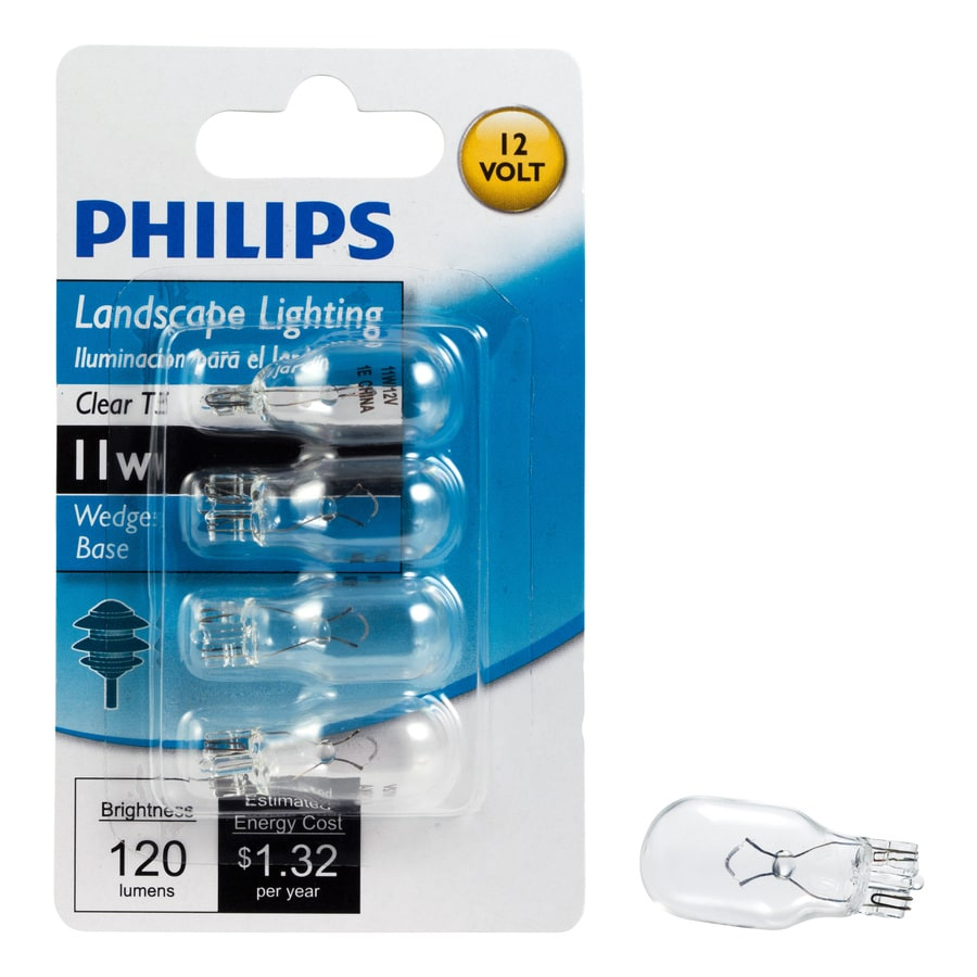 Philips 4-Pack 11-Watt T5 Base Bright White Halogen Accent Light Bulbs