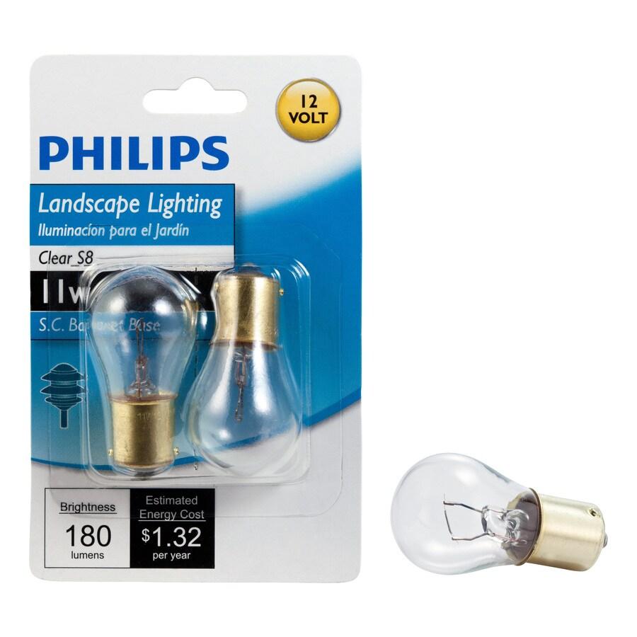 Philips 2-Pack 11-Watt S Base Soft White Halogen Accent Light Bulbs