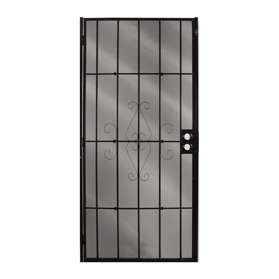 Columbia Mfg. Magnum Black Powder-Coat Steel Security Door