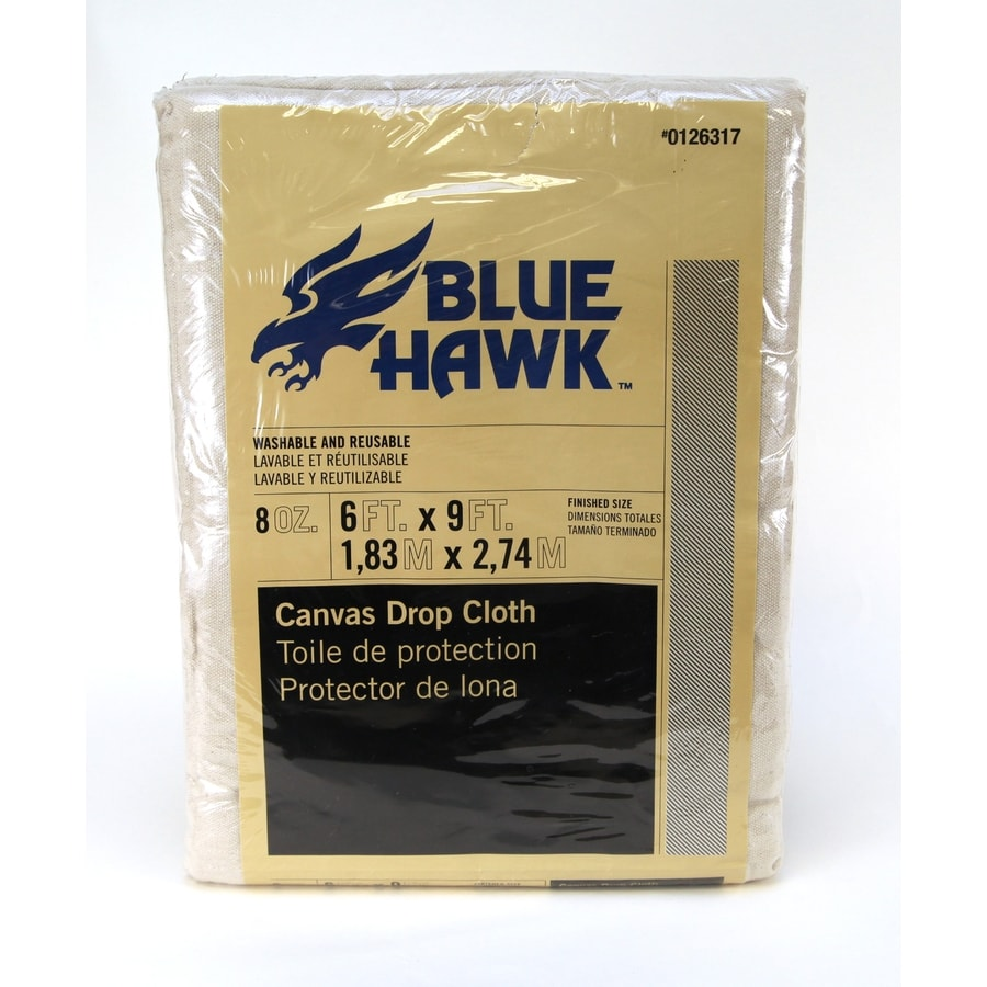 Blue Hawk 8-oz Canvas Drop Cloth (Common: 6-ft x 9-ft; Actual 6-ft x 9-ft)
