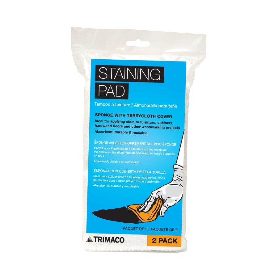 Blue Hawk 2-Pack 4.75-in x 3.5-in Furniture Stain Pads