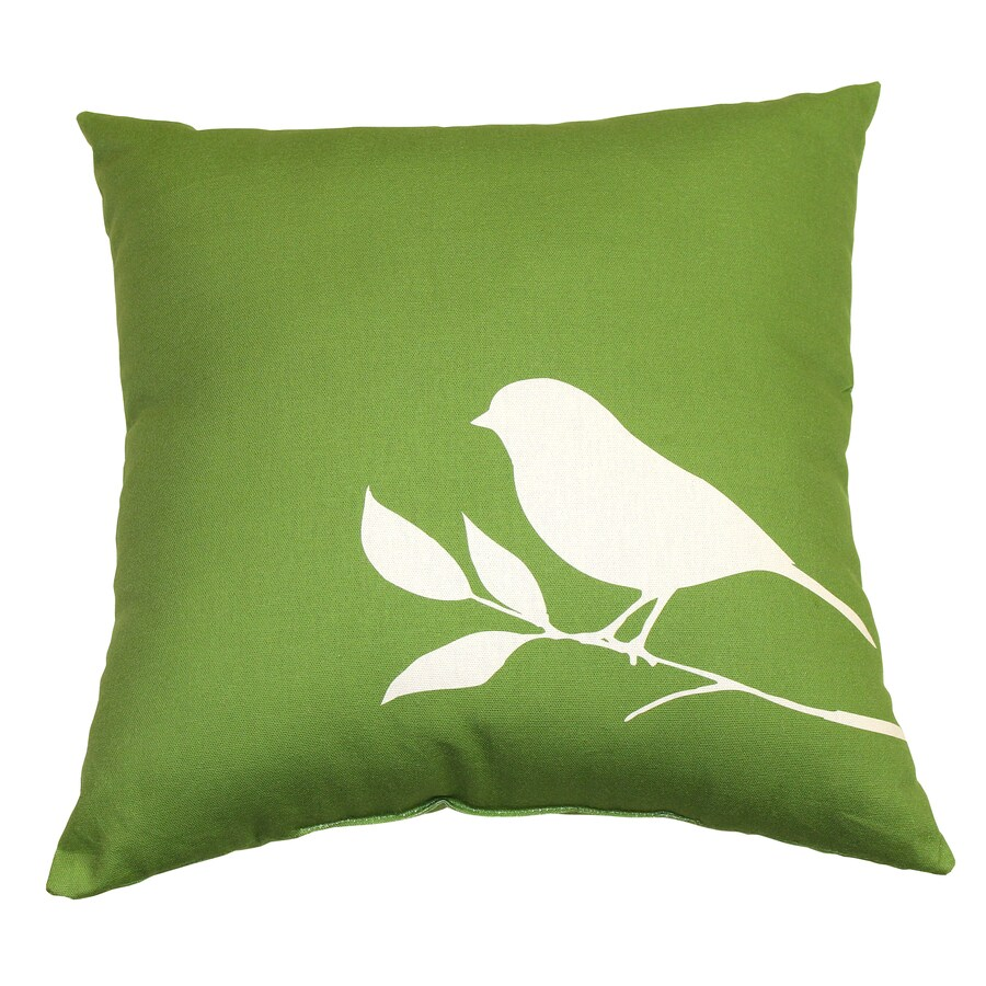Garden Treasures Lennington Green UV-Protected Outdoor Accent Pillow