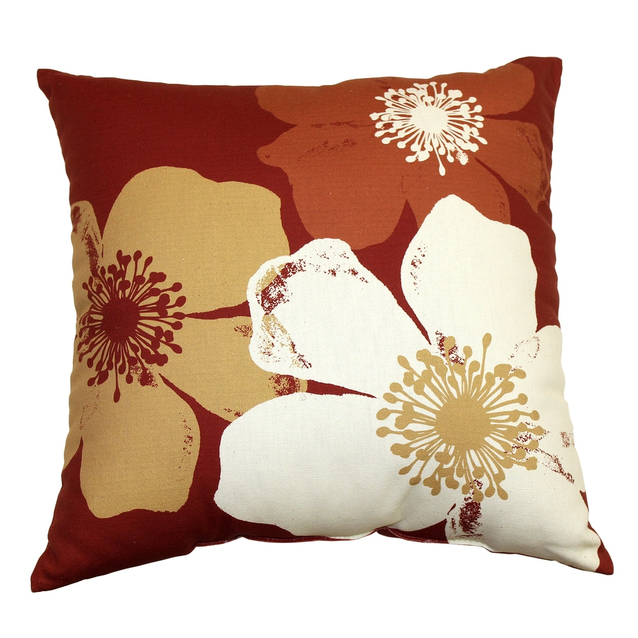 Garden Treasures Chapin Red UV-Protected Outdoor Accent Pillow