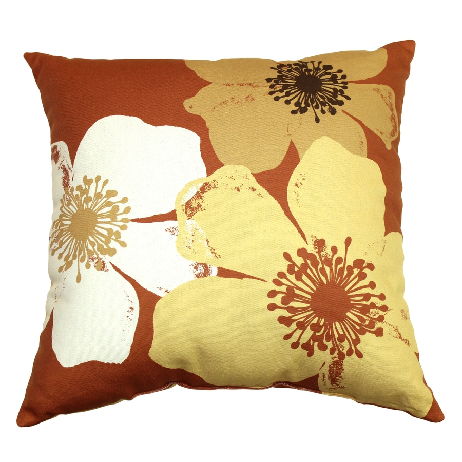 Garden Treasures Chapin Rust UV-Protected Outdoor Accent Pillow