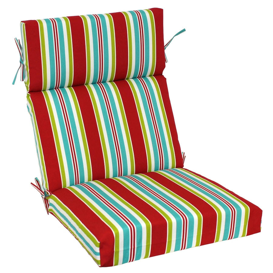 Garden Treasures 46-in L x 22-in W Red Patio Chair Cushion