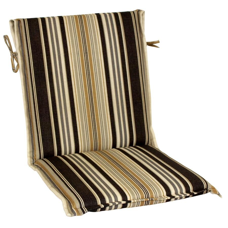 allen + roth 37-in L x 17.5-in W Black Patio Chair Cushion