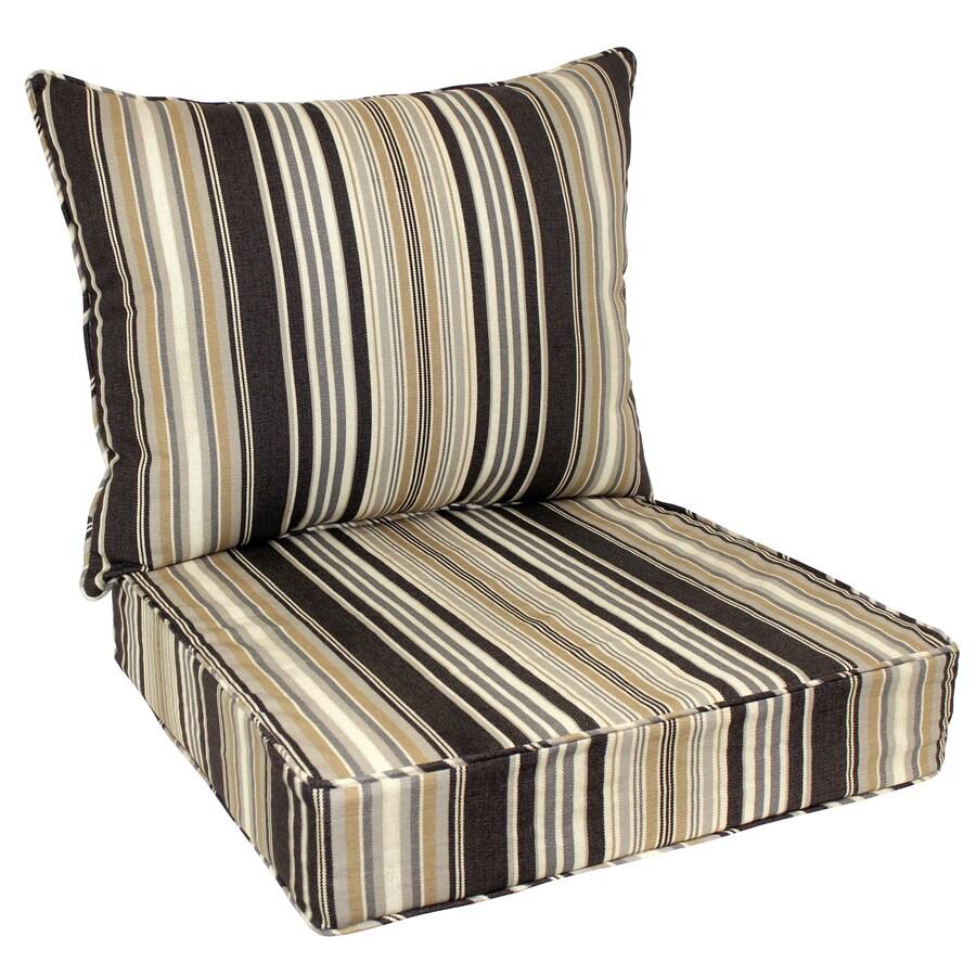 allen + roth 48-in L x 25-in W Black Patio Chair Cushion