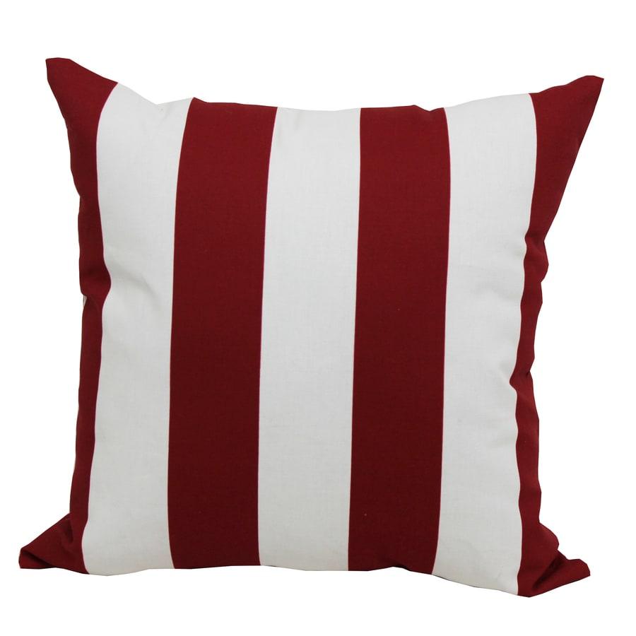 Garden Treasures Red Multicolor Stripe Square Outdoor Decorative Pillow
