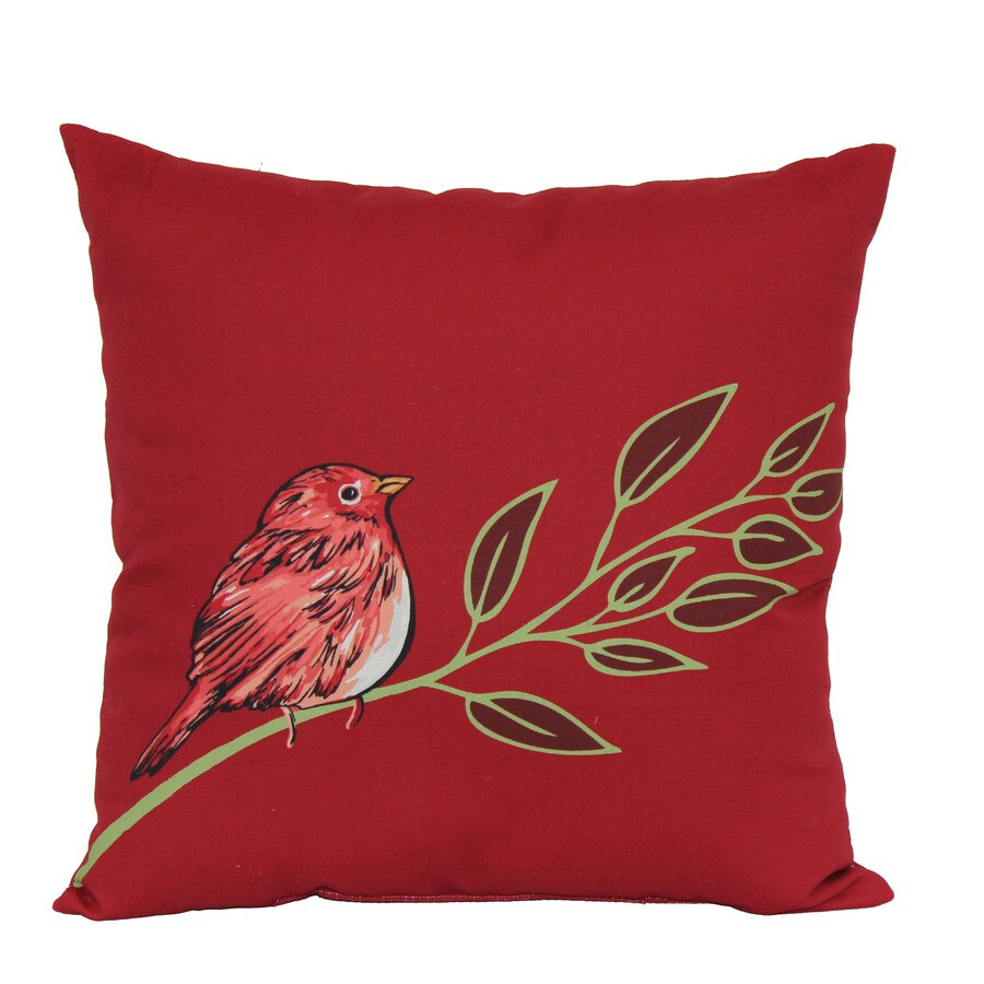 Throw Pillows At Lowes : Shop Garden Treasures Red Multicolor Floral Square Throw Outdoor Decorative Pillow at Lowes.com