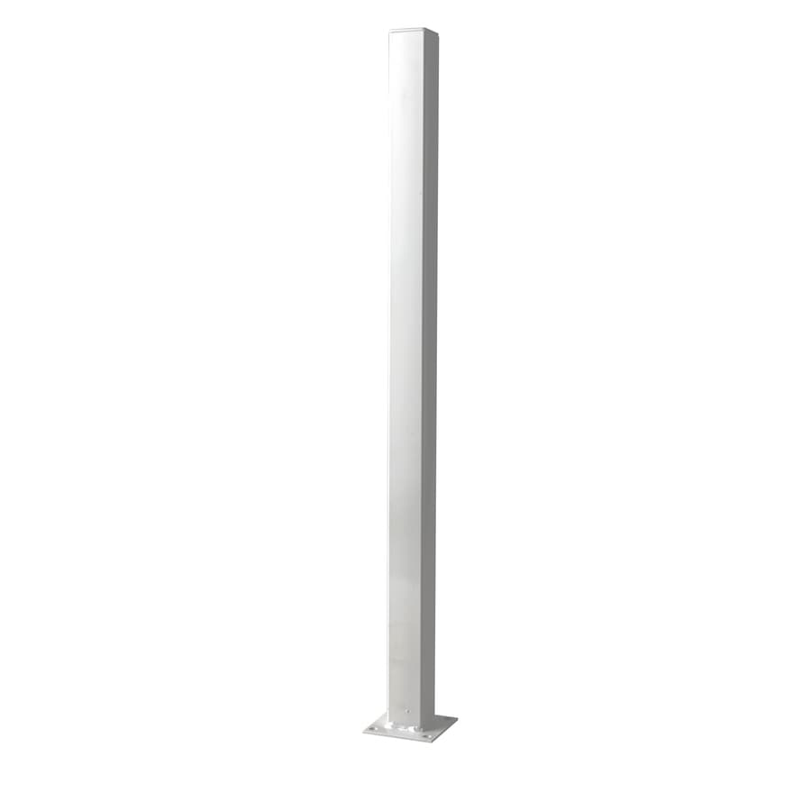 White Steel Decorative Metal Fence Universal Post (Common: 2-in x 2-in x 3-ft; Actual: 2-in x 2-in x 3-ft)