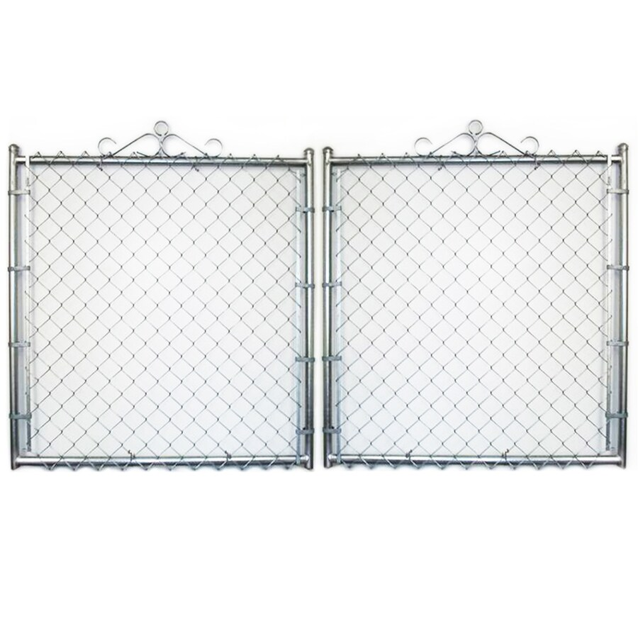 Galvanized Steel Chain-Link Fence Gate (Common: 10-ft x 5-ft; Actual: 9.5-ft x 5-ft)