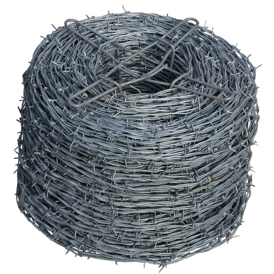 1320 Ft X 0 25 Ft Galvanized Steel Welded Wire Security Barbed Wire Rolled Fencing In The Rolled Fencing Department At Lowes Com