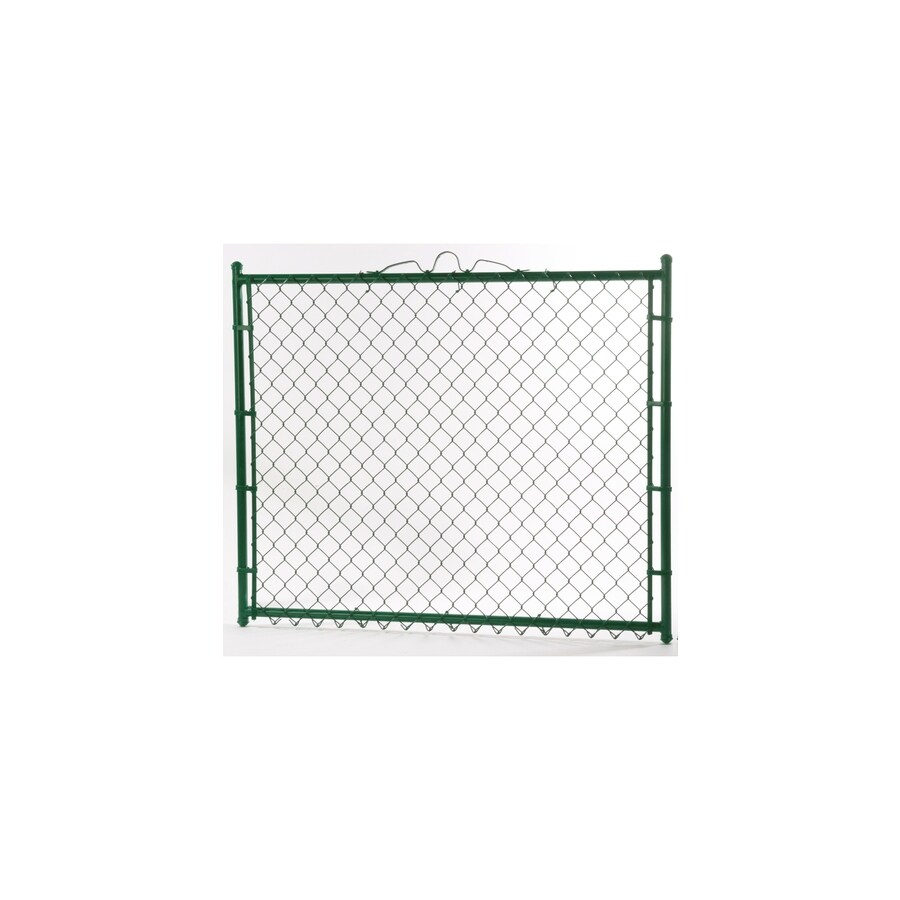 Vinyl Coated Steel Chain-Link Fence Walk-Thru Gate (Common: 4-ft x 4-ft; Actual: 3.66-ft x 4-ft)