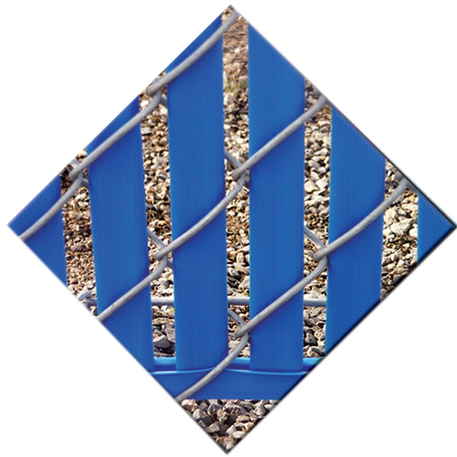 82-Pack Blue Chain-Link Fence Privacy Slats (Fits Common Fence Height: 8-ft; Actual: 0.09-ft x 7.71-ft)