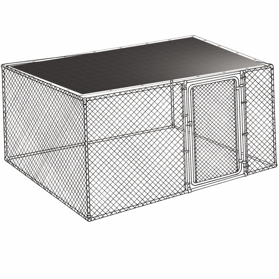 10-ft L x 10-ft W Plastic Kennel Cover