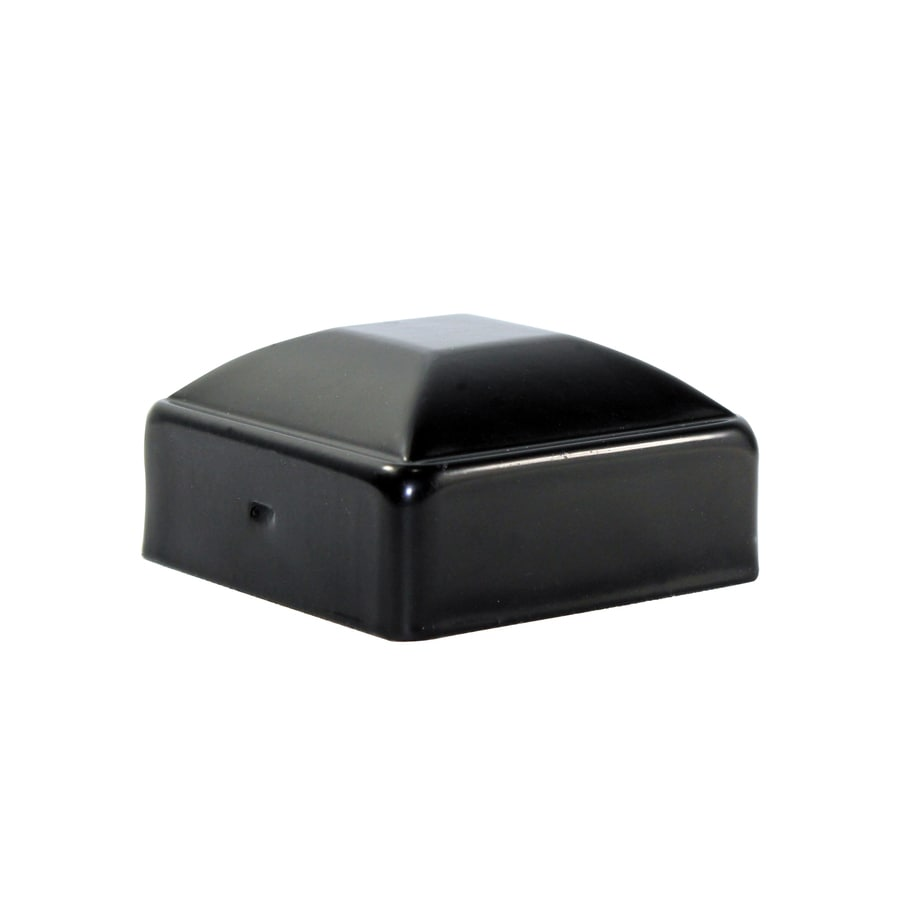 Powder-Coated Steel Decorative Metal Fence Post Cap (Fits Common Post Measurement: 2-1/2-in; Actual: 3.12-in x 1.25-in)